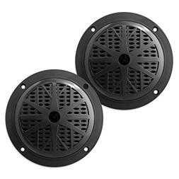 Pyle PLMR51B Dual 5.25'' Waterproof Marine Speakers, 2-Way F