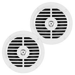 5.25 Inch Dual Marine Speakers - 2 Way Waterproof and Weathe