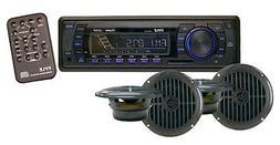 Marine Headunit Receiver Speaker Kit - In-Dash LCD Digital S
