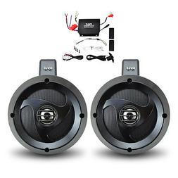 Pyle PLUTVA102 Waterproof Dual Wakeboard Speaker and Amplifi