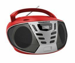 KORAMZI Portable CD Boombox w/ AM/FM Radio,AUX IN, Top Loadi