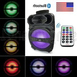 "Portable PA Karaoke Bluetooth Speaker 8"" Subwoofer Sound Sys"