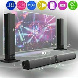Portable Surround Sound Bar 4 Speaker System Wireless Subwoo