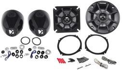 "Kicker PS4  4"" Motorcycle/ATV Speakers 4 Ohm+KMMTES Handleba"