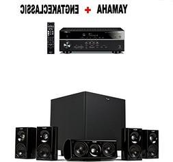 Yamaha RX-V485BL 5.1-Channel 4K Ultra HD AV Receiver + Klips
