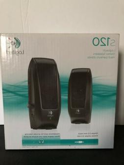 Logitech S120 Desktop Speaker System - Black FREE SHIPPING