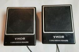 Sony Speaker System SRS-3 Portable Minin Desk Speakers EUC