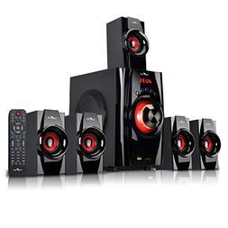 beFree Sound 5.1 Channel Surround Sound Bluetooth Speaker Sy