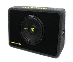 Kicker TCompS 600W Car/Truck Thin Mount Subwoofer + Box