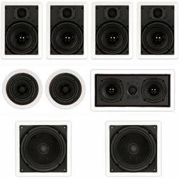 Theater Solutions TST67 In Wall and In Ceiling 6.5 Speakers