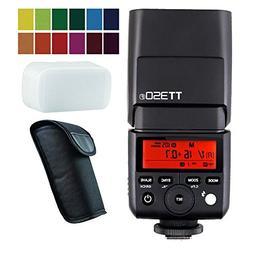 Godox TT350F 2.4G HSS 1/8000s TTL GN36 Camera Flash Speedlit