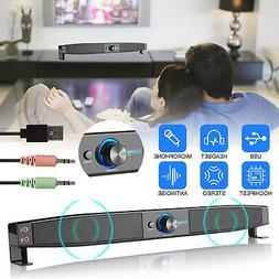 TV Home Threater Wired Sound Bar Speaker System w/Built-in 3