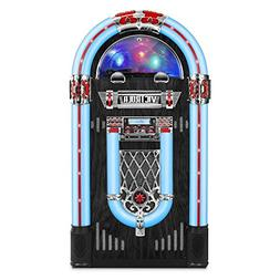 Victrola Full Size Retro Jukebox with 3-Speed Turntable, CD