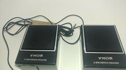 Vintage 1980s Sony SRS-3 Portable Mini Speaker System - Test