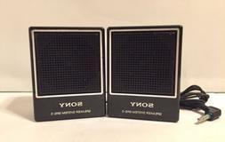 Vintage Sony Speaker System SRS-3 Portable Minin Desk Speake