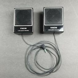 Vintage Sony SRS-3 Mini Stereo Speaker System for Walkman Sp