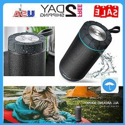 COMISO Waterproof Bluetooth Speakers Outdoor Wireless Portab