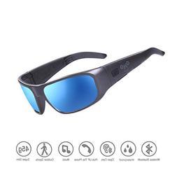 Waterproof Bluetooth Sunglasses,Open Ear Audio Sunglasses wi