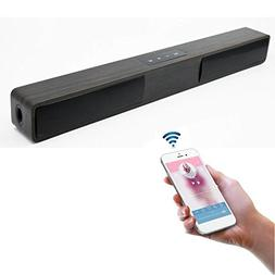 LONPOO 20-Inch Wireless Bluetooth Speaker Sound Bar 10W Comp