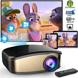 Wireless WiFi Video Projector DIWUER Full HD 1080P Projector